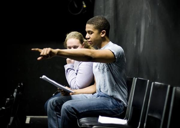 Co-directors Jaysen Wright '09 and Caitlin Davies '09 oversaw auditions for the mainstage production entitled 'Ties that Bind'. Written as a result of Wright's MAP, the play focuses on issues of sexuality, shame and disease in the gay community between 1968 and the present.
