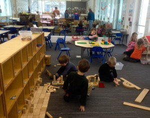 Preschoolers and college students alike enjoy new learning space