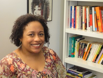 Lakesia Johnson, GWSS, will read from her new book, Iconic, Friday afternoon in JRC 101. Photo by Joanna Silverman.