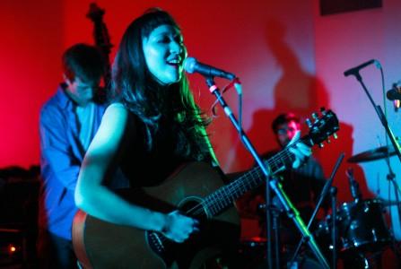 Katie In '13 opens for Ivan & Alyosha in Gardner on last Wednesday night. Photo by Chris Gallo.