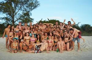 Swim team tans, tones and trains in Florida