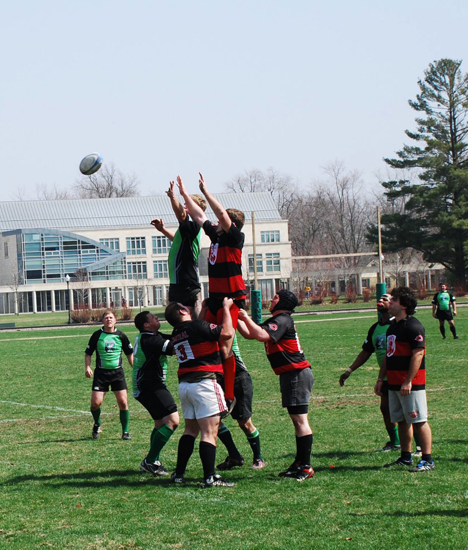 The Grinnell Griffins face off against Central College on Mac Field. Photo contributed.