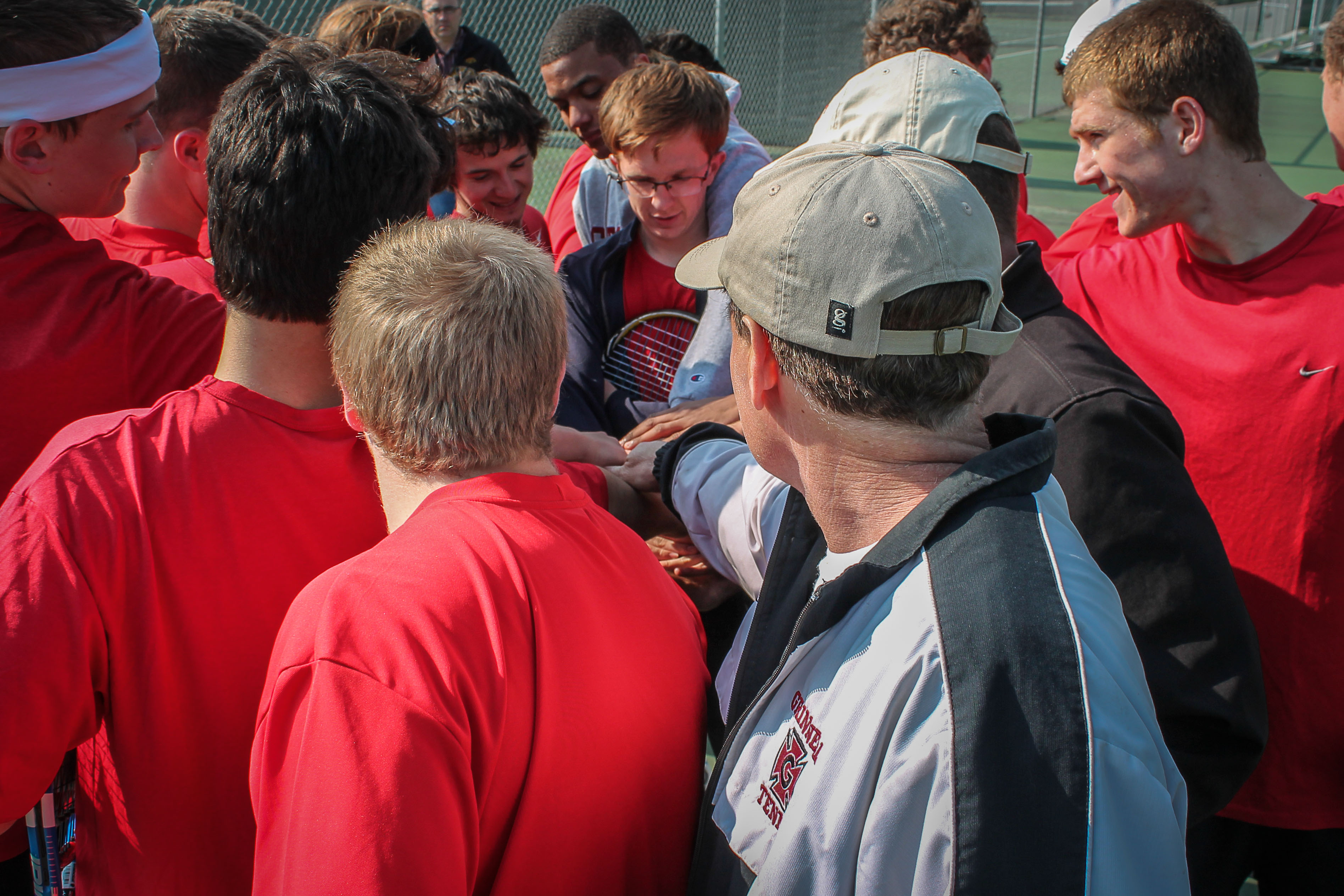 Men's Tennis prepares for next week's Nationals Tournament at practice. Photo by Greg Hinton.