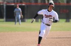 Niko Takayesu '17 runs the bases against Coe College on Tuesday, April 15. Photo by Aaron Juarez.