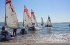 Sailboats of different school teams at Northwestern's regatta.  Photo contributed.
