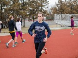 Sarah Burnell '14 prepares for the outdoor season after her performance at Indoor Nationals. Photo by Shadman Asif.