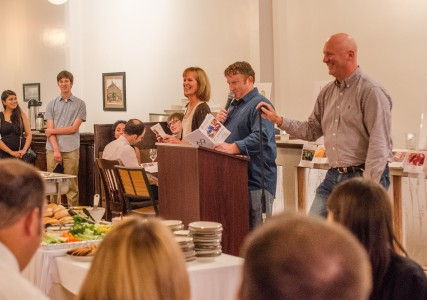 Attendees of the auction were able to bid on various talents and products Monday night.