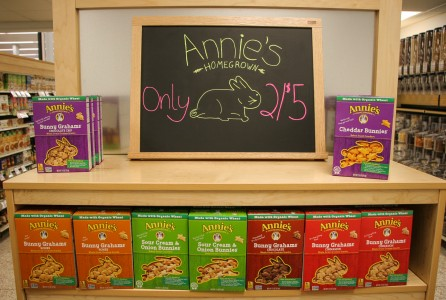Annie's Homegrown Snacks are just one of the many healthier snack alternatives offered. Photo by Sydney Steinle.