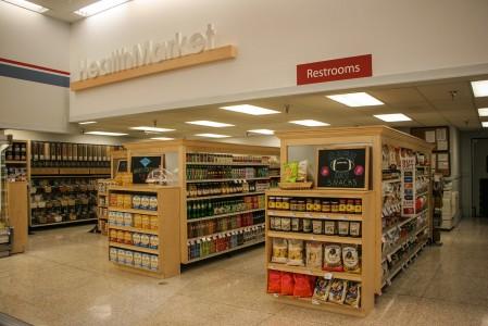 The Health Market spans a few aisles long. Photo by Sydney Steinle.