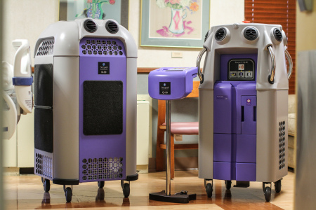 GRMC's Bioquell robots kill 99.9999 percent of bacteria using hydrogen peroxide vapor. Photo by Aaron Juarez.