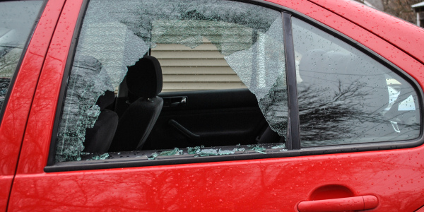 Over the past weekend, vandals broke multiple windows in cars belonging to students living off-campus, and in other campus residential buildings.  Photo by Parker Van Nostrand.
