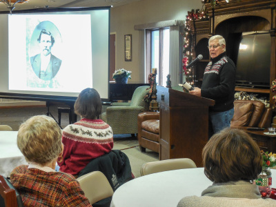 Greg Seeley shares his poetry at St. Francis Manor. Photo contributed.