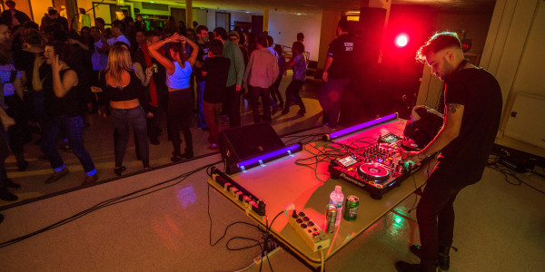 Students enjoyed the electronic house music brought to campus in the first concert of the semester. Photo by John Brady