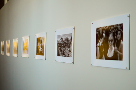 The photography show makes a narrative of the student protests. Photo by Jun Taek Lee.