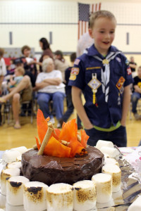 Some cakes also focused on the Cub Scouts activities. Photo by Misha Gelnarova