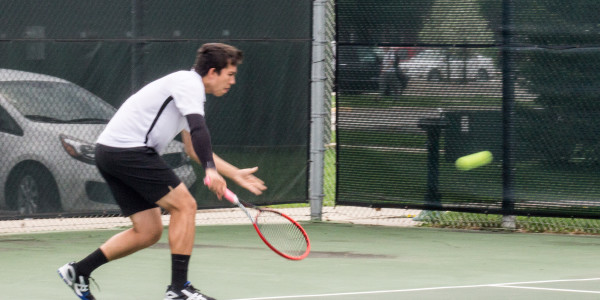Tommy Pitcher '17 has been one of the Pioneers' best doubles players the past two seasons. Photo by Jeff Li