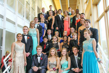 Grinnell High School students get ready to hit the dance floor. Contributed photo.