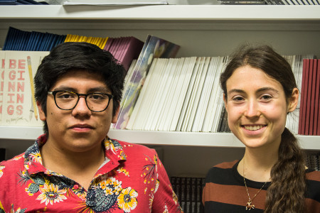 Media Heads Abdiel Lopez and Donna Brunnquell have taken over Press this semester.  Photo by Sofi Mendez