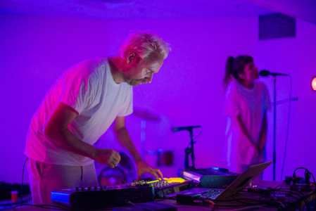 OOFJ features Jens Bjørnkjær as DJ and Katherine Mills Rymer on vocals. Photo by Jun Taek Lee