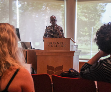 Shiriki Kumanyika discussed the World Health Organization's goals to combat obesity. Photo by Jeff Li