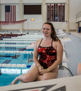 Jalyn Marks '16 is ready to compete for the swim team again.  Photo by Jae Eun Oh