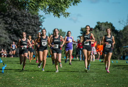 The women's team finished the event in fourth place with three runners in the top 20.  Photo by John Brady