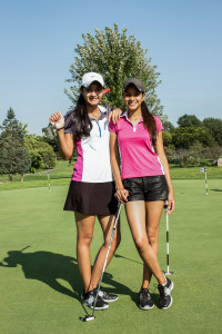 Golf is played by everybody in the Sinha family but the twins are the first to play at the college level.  Photo by Rae Kuhlman