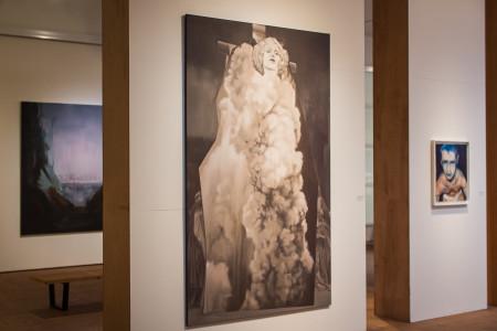 "Chris Brodahl's  ""The Yellow Tree"" exhbited in  ""Start by Asking Questions."" Photo by Matt Kartanata"