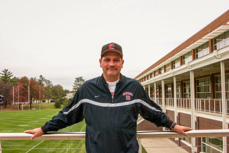 Ted Schultz is responsible for Grinnell's athletic website, writing recaps for every sporting event.  Photo by Jae Eun Oh
