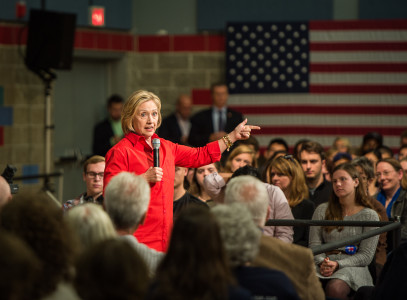 Clinton answered questions from students and community members at a town hall event last Tuesday. Photo by John Brady