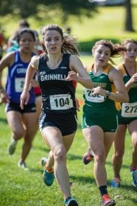Whitney Teagle '18 impressed at Conference, finishing 39th.  Photo by John Brady
