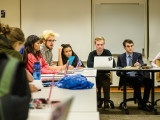 Students voiced their concerns about the new Community Advisor position at a recent campus council meeting. Photo by John Brady.