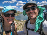 Elizabeth Hoel (left) and Eric Ohrn, Econimcs, on a backpacking trip this summer in the Bighorn Mountains, Mont. (Photo contributed.)
