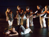 Dance Ensemble features students of all dance backgrounds who prerform pre-planned and improvised material.  Photo by Jun Taek Lee