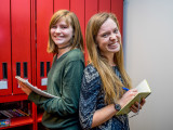 Lundberg and Roszkowski tell stories that they feel will be relatable to all students. Photo by Jun Taek Lee