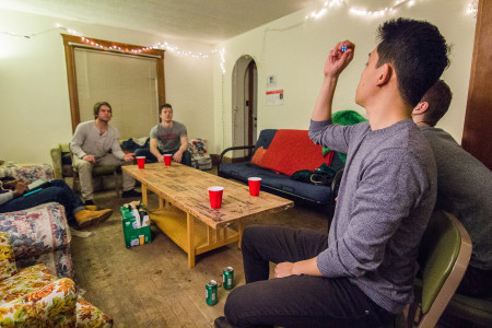 The Grinnell beer die league is in the midst of its third season of competition.  Photo by Misha Gelnarova