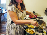 Addie Coley '16 prepares a meal with lots of love.  Photo by Leina'ala Voss.