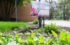 St. John's Giving Garden, across the street from Loose Hall, is one of several throughout Grinnell. Photo by Sofia Mendez