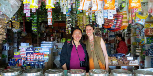 Diana Jue (left) and Jackie Stenson (right), the co-founders of Essmart, together at a local street market. Photo contributed.