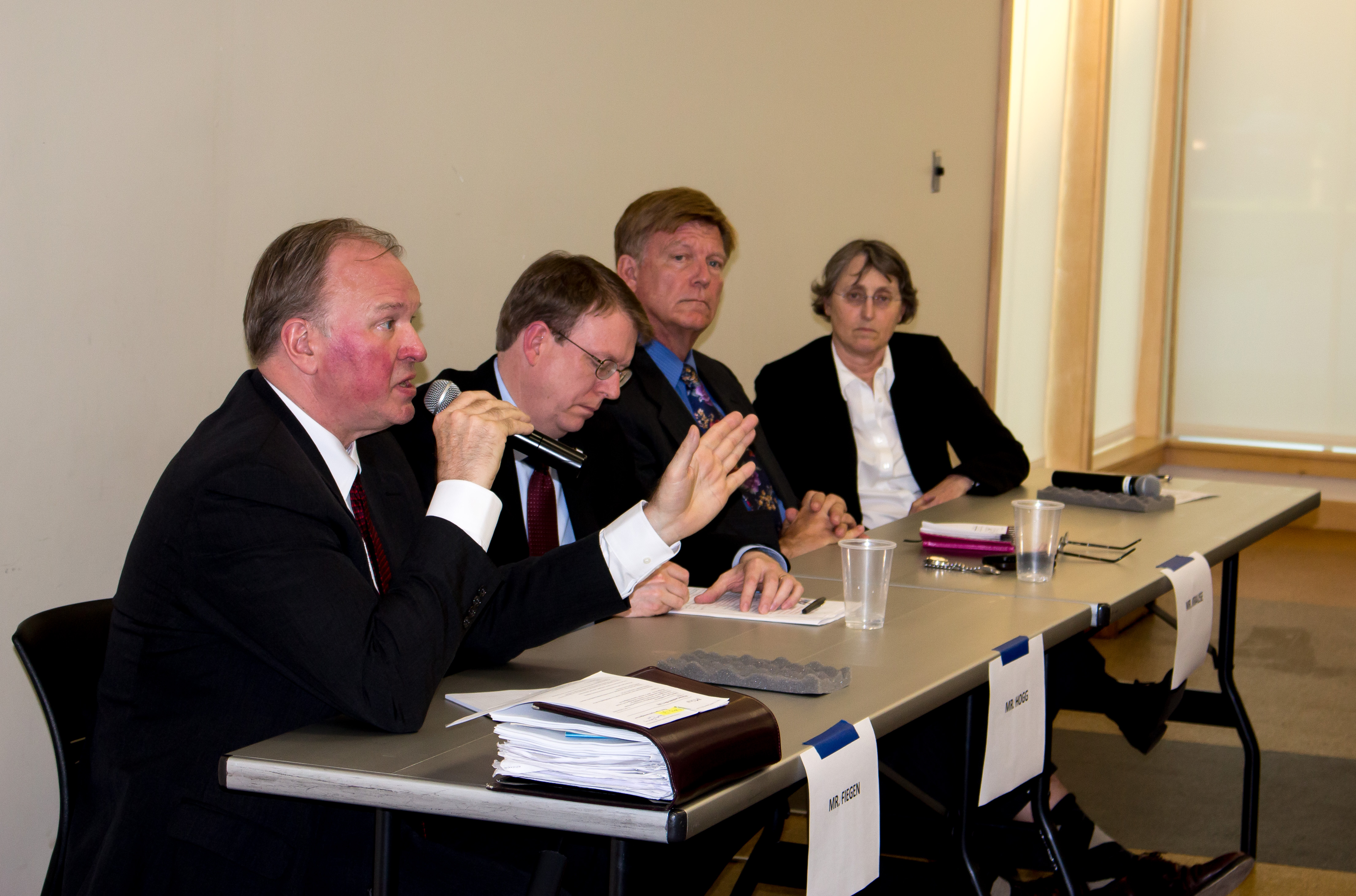 Tom Fiegen spoke on issues concerning Iowans during Thursday's forum. Photo by Michael Cummings.