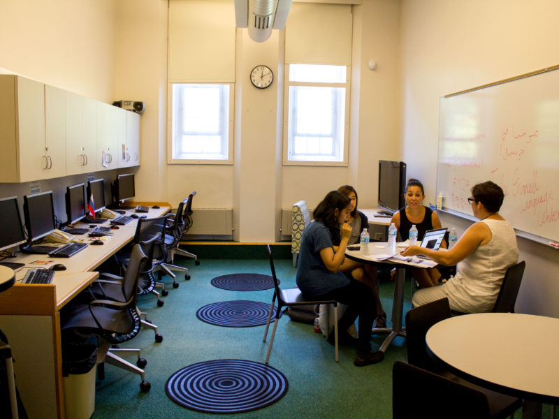 The Language Center will be a space for language immersion and cultural experiences as well as peer tutoring. Photo by Jeff Li.