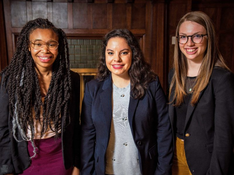 Anita Dewitt, Bailey Dann and Rachel Aaronson serve on this year's SGA executive cabinet. Photo contributed.