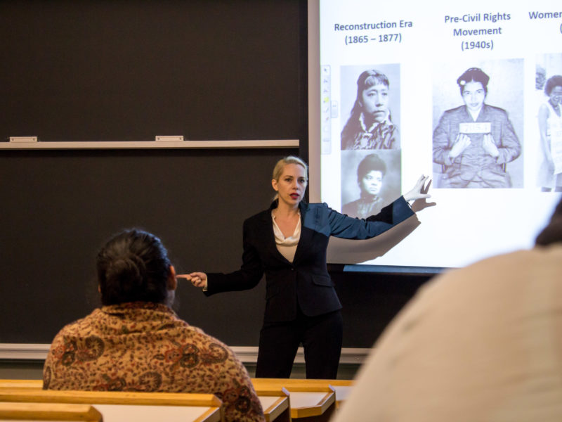 Heldman's Thursday talk detailed anti-rape movements throughout the years. Photo by Helena Gruensteidl.