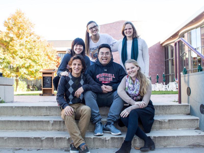 The Biology SEPC consists of Emily Adam '17, Ashley Murphy '17, Jarren Santos '17, Michael Kamp '18, Emily Kozik '18 and Rae Kuhlman '18. Photo by Mayu Sakae.