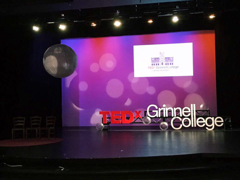 """TEDxGrinnellCollege invited alumni to connect their experiences at Grinnell with their lives after Grinnell through the theme """"Bursting the Bubble."""" Contributed photo."""