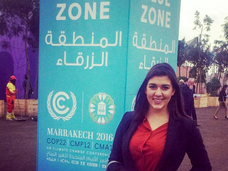 Tea Cakarmis '17 represented Palau at COP22 in Marrakesh, Morocco. Photo contributed.